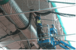 Safety netting installations form an essential part of construction site safety.