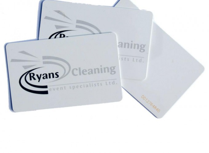 Staff management with RFID cards - cards carry ID number printed as well.