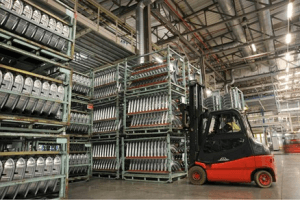 Stillage handling helped by RFID